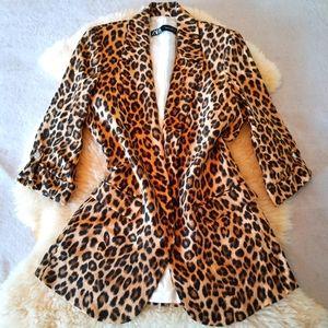 Gorgeous Leopard Print Zara Boyfriend Blazer